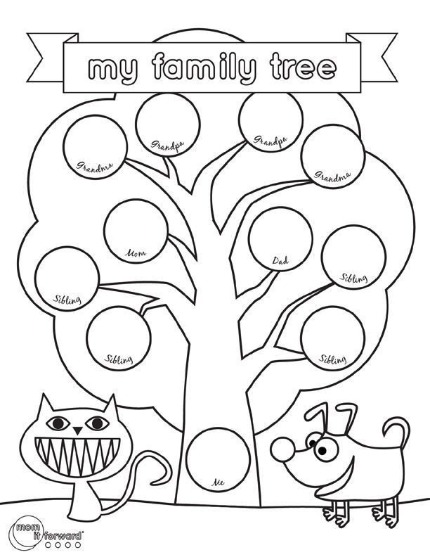 Google Family Tree Template My Family Tree Printable Volunteer