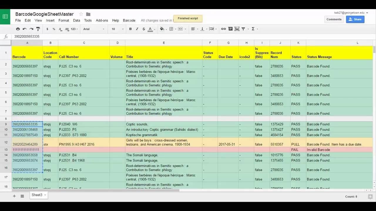 Google Sheets Inventory Template Barcode Inventory tool Google Sheets Version