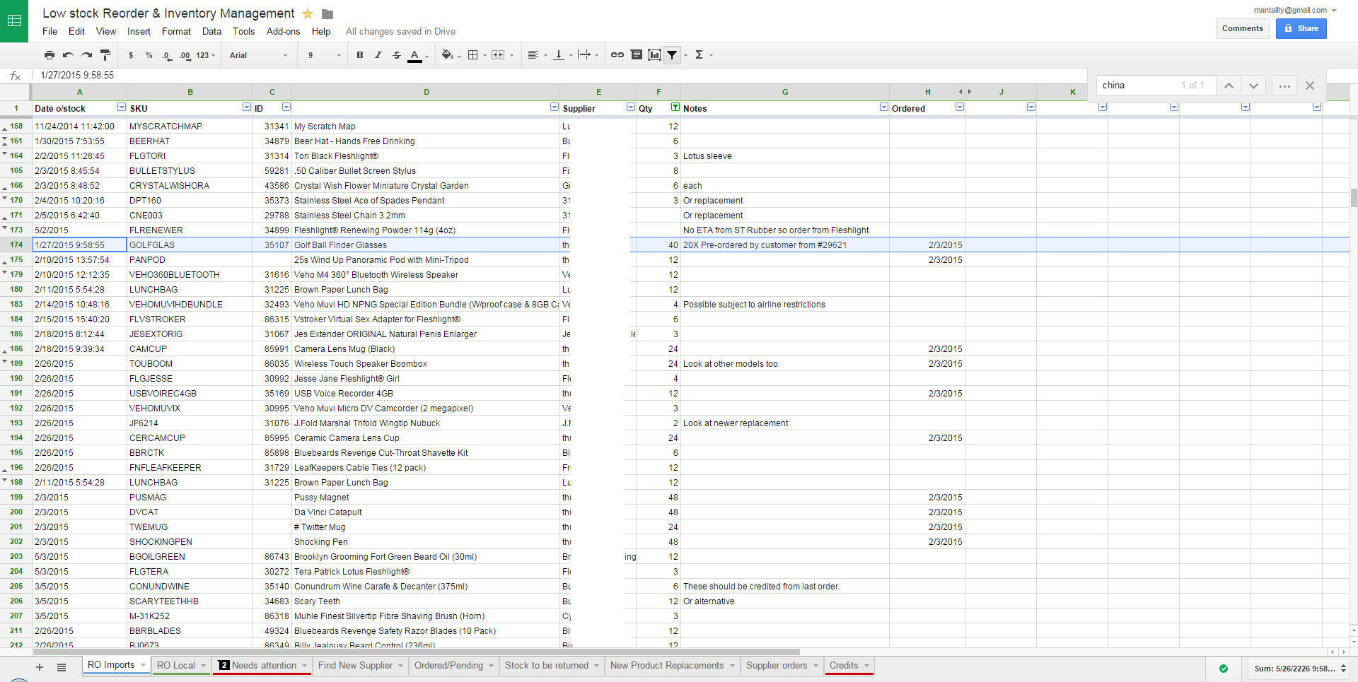 Google Sheets Inventory Template Low Cost Inventory Management Technique