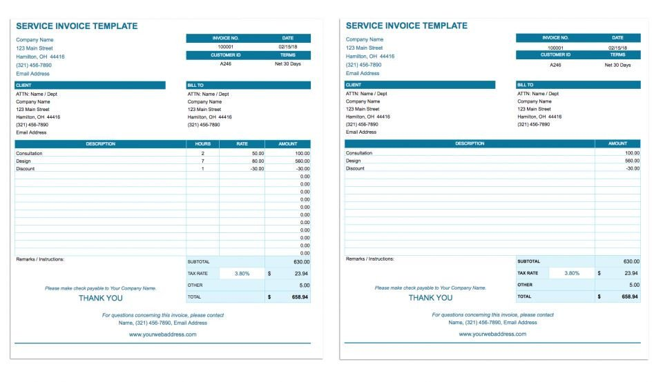 Google Sheets Invoice Template Free Google Docs Invoice Templates