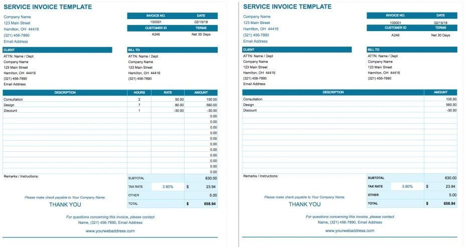 Google Sheets Invoice Templates How to Create Blank Invoice Templates On Google Docs