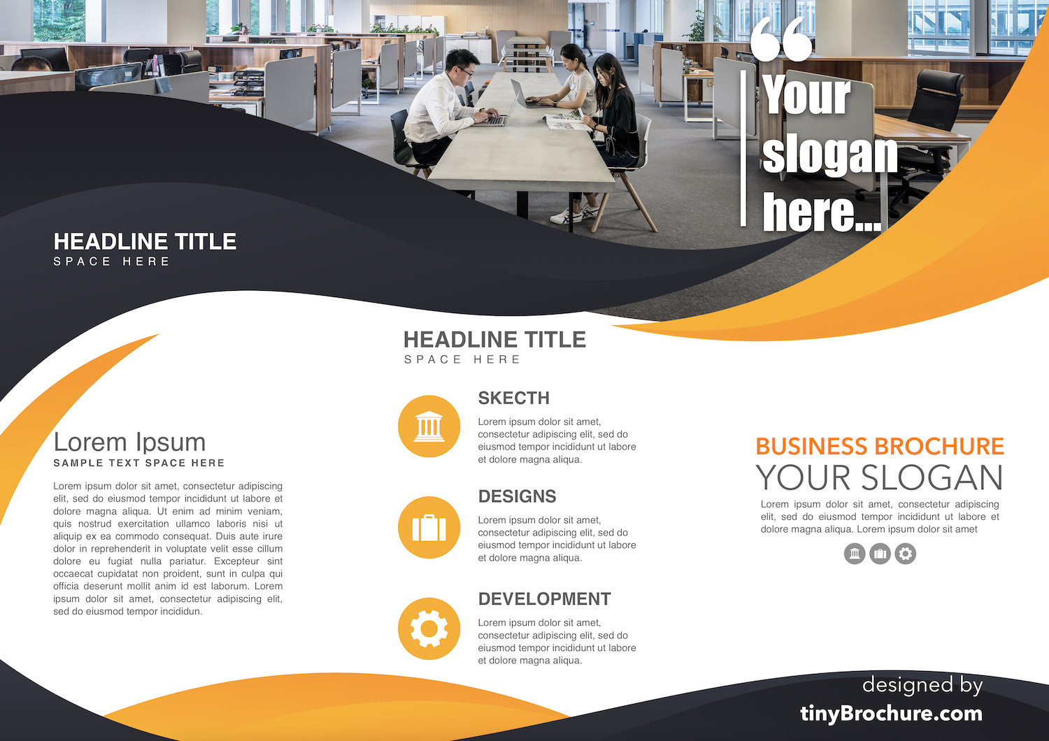 Google Slides Brochure Template Tri Fold Brochure Template for Google Slides