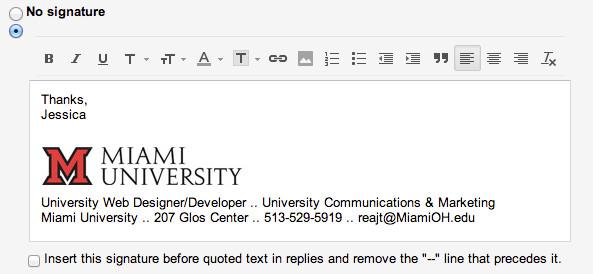 Grad Student Email Signature Add the Miami Logo to Your Email Signature Miami University