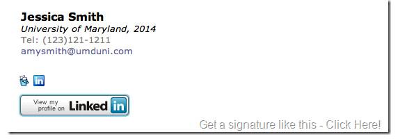 Grad Student Email Signature Email Signature Mba–email Signature