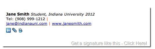 Grad Student Email Signature Student