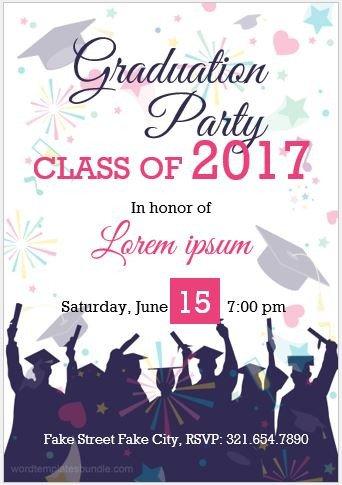 Graduation Invitation Templates Microsoft Word 10 Best Graduation Party Invitation Card Templates Ms Word