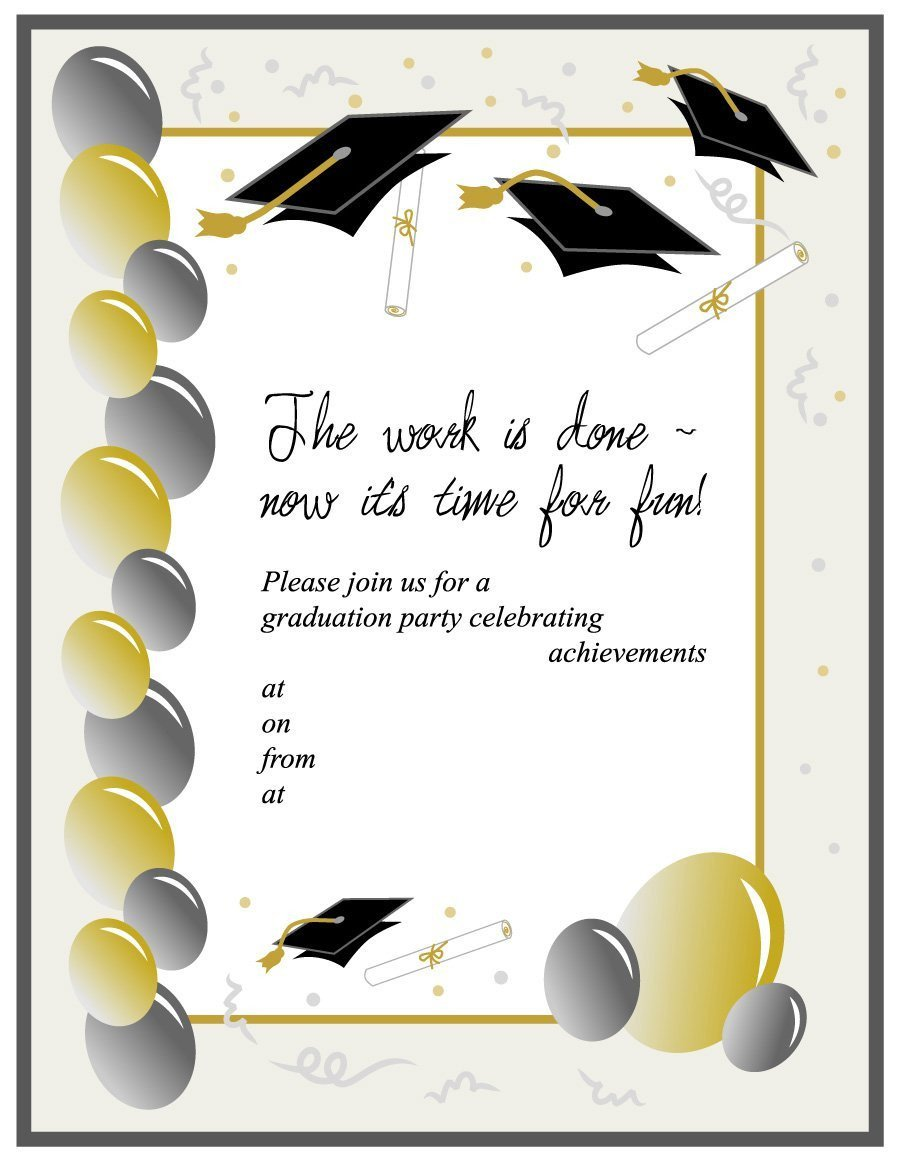 Graduation Invitation Templates Microsoft Word 40 Free Graduation Invitation Templates Template Lab