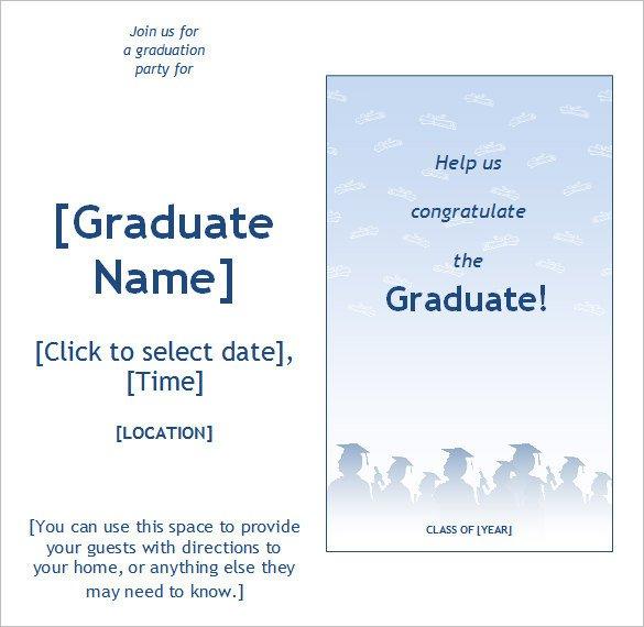 Graduation Invitation Templates Microsoft Word 50 Microsoft Invitation Templates Free Samples