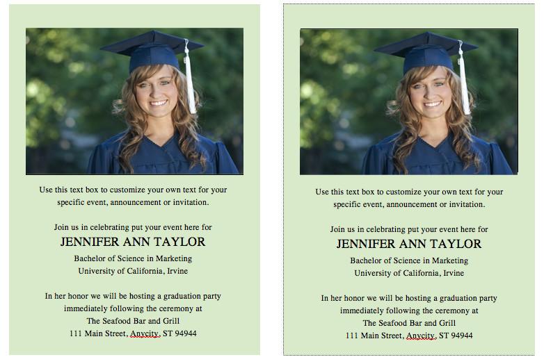Graduation Invitation Templates Microsoft Word Free Graduation Invitation Template – Celebrations Of Life