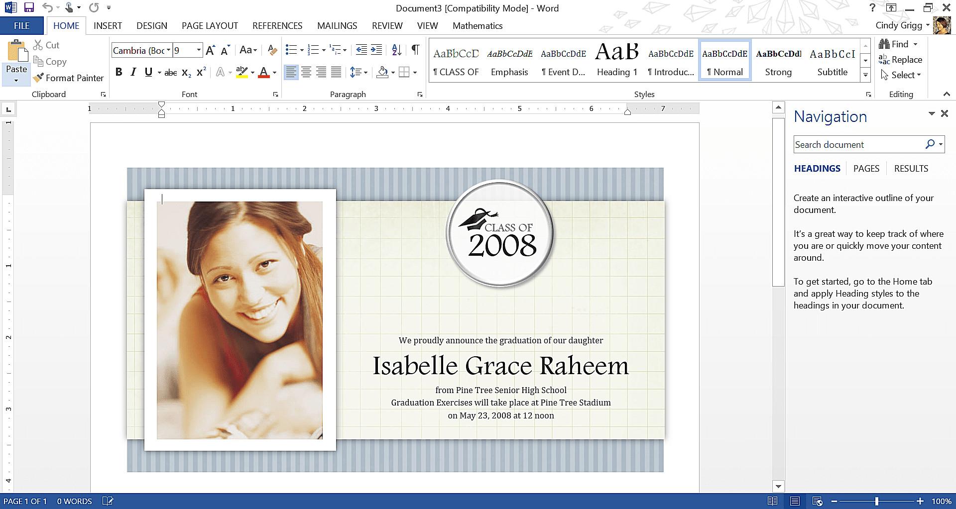 Graduation Invitation Templates Microsoft Word Get Microsoft S Best Graduation Templates