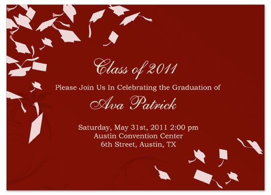 Graduation Invitation Templates Microsoft Word Graduation Invitation Template