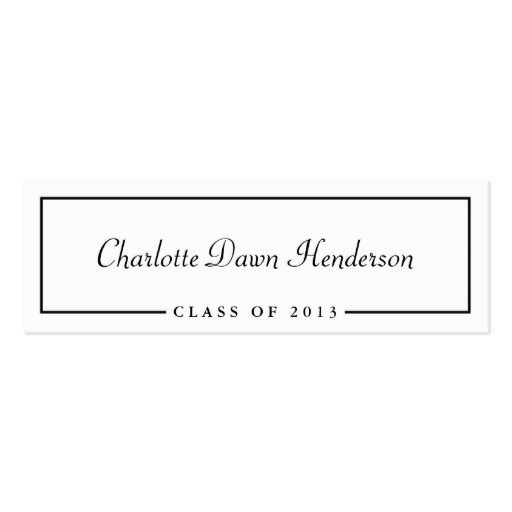 Graduation Name Card Template Graduation Announcement Name Card Border Class Of Pack