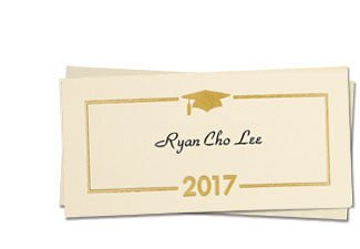 Graduation Name Card Template Graduation Announcements Graduation Invitations and Name