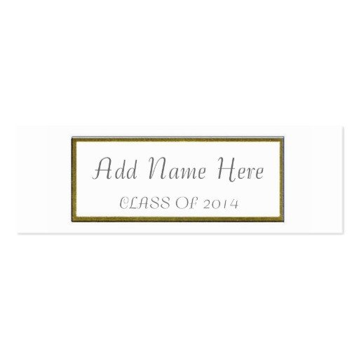 Graduation Name Card Template Graduation Name Card Double Sided Mini Business Cards