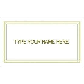 Graduation Name Card Template Templates Green Border Graduation Name Card 10 Per