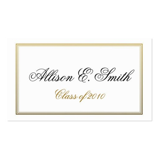 Graduation Name Card Template Triple Bordered Graduation Name Card Business Card