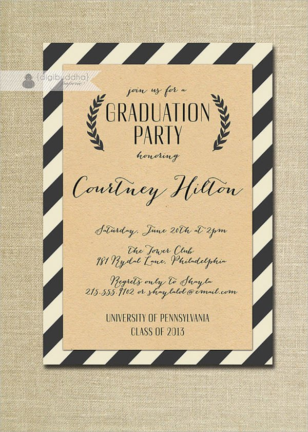 Graduation Party Invitation Template 11 Beautiful Graduation Invitation Templates Psd Word Ai