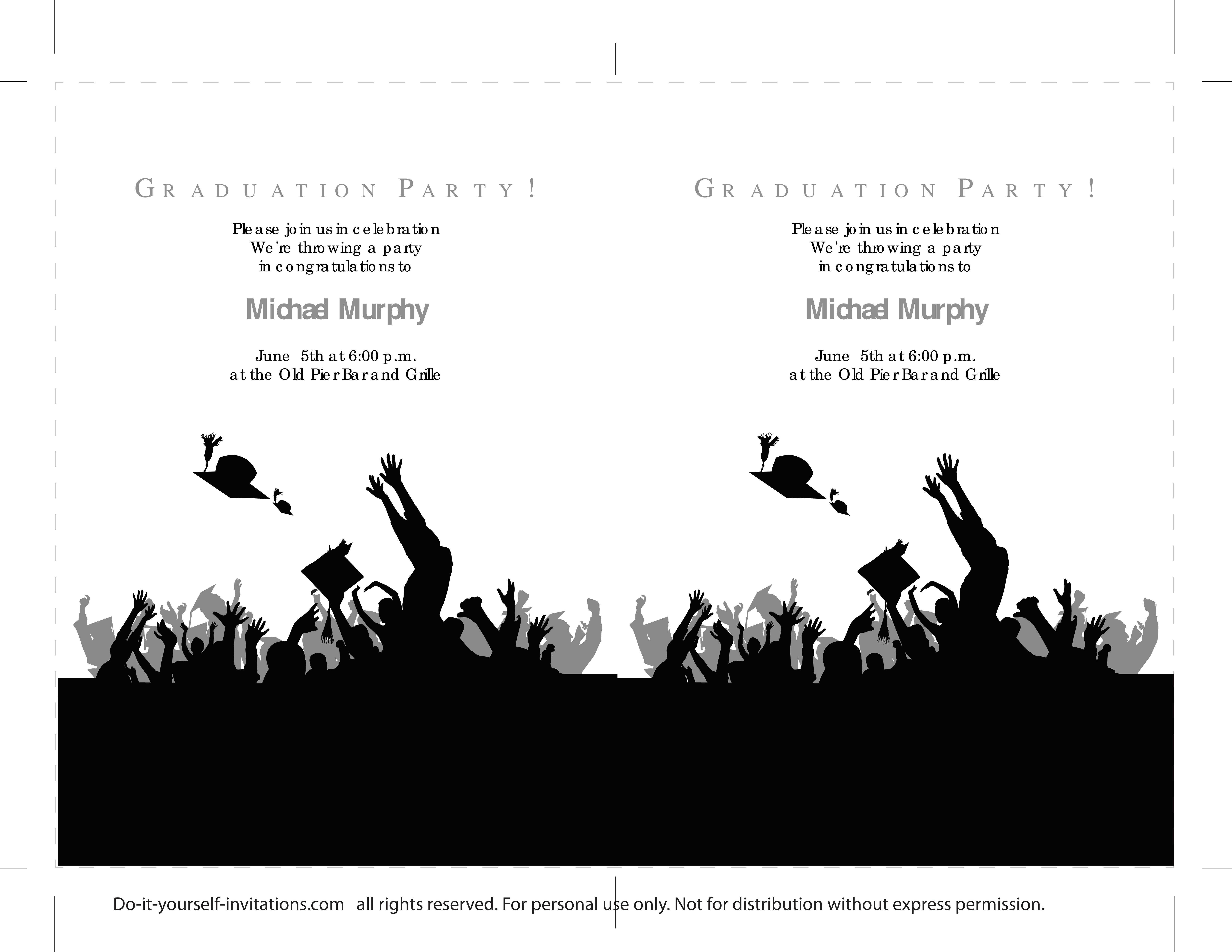 Graduation Party Invitation Template 40 Free Graduation Invitation Templates Template Lab