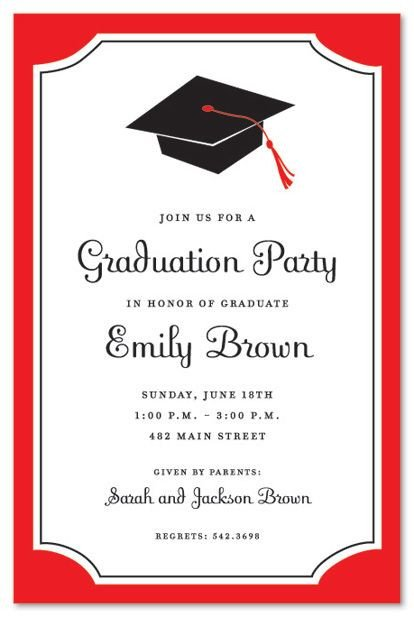 Graduation Party Invitation Template Graduation Invitations