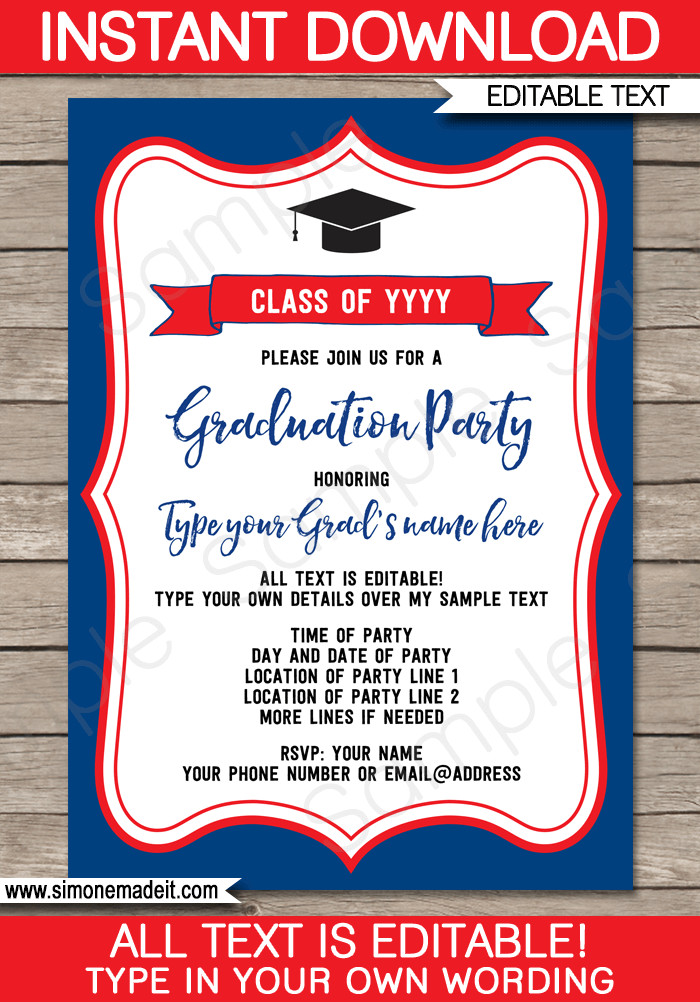 Graduation Party Invitation Template Graduation Party Invitations Template