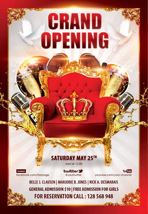 Grand Opening Flyer Template Free Download the Grand Opening Party Free Flyer Template