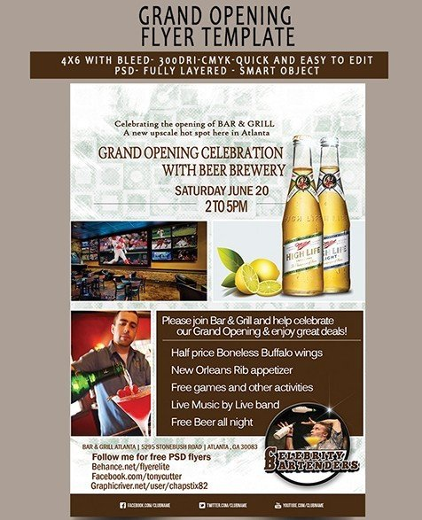 Grand Opening Flyer Template Free Free Grand Opening Flyer Template Psd Titanui