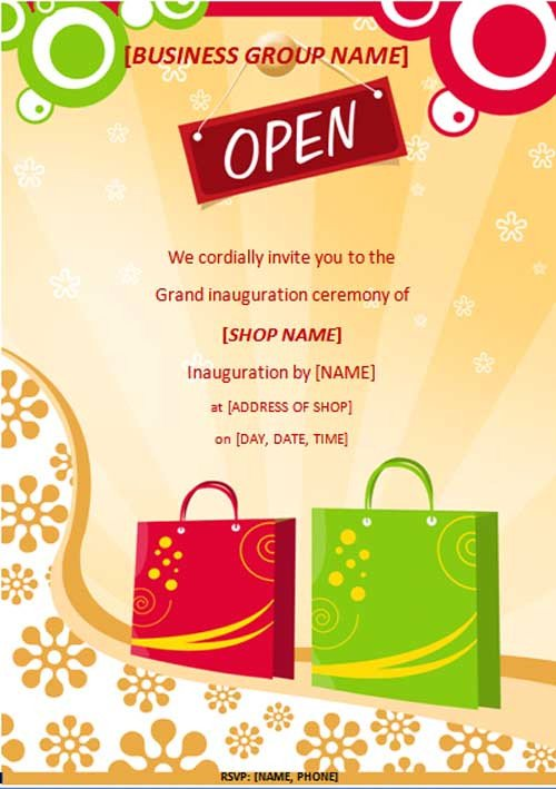 Grand Opening Flyer Template Free Free Line Flyers