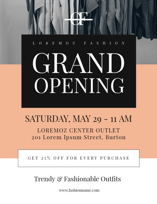 Grand Opening Flyer Template Free Grand Opening Flyer Template