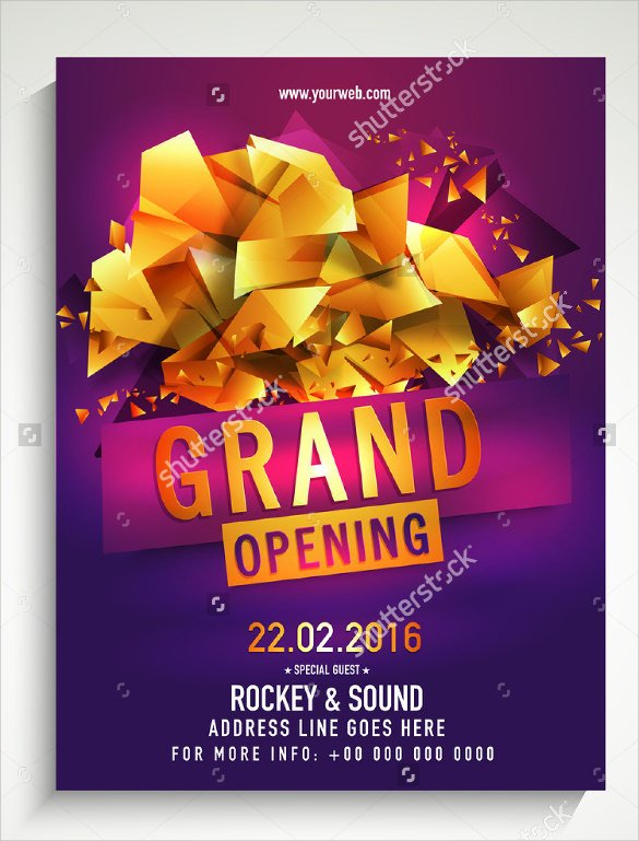 Grand Opening Flyer Template Free Grand Opening Flyer Templates 15 Download Documents In