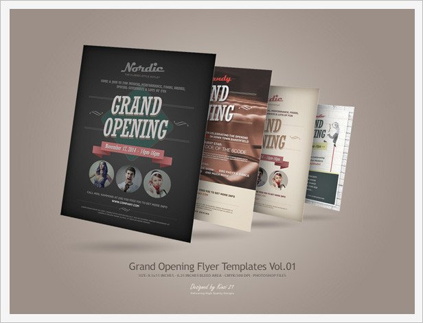 Grand Opening Flyer Template Free Grand Opening Flyers Vol 02 by Kinzi21