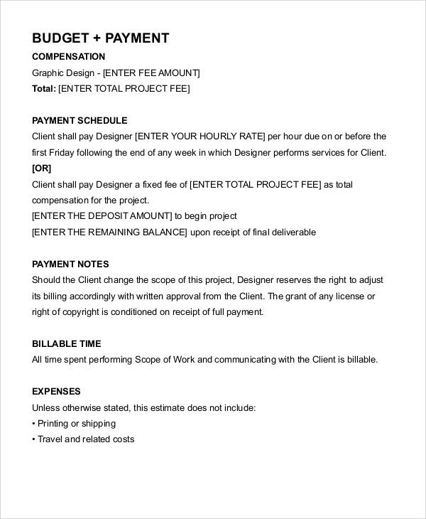Graphic Design Contract Template 12 Freelance Contract Templates Word Pdf