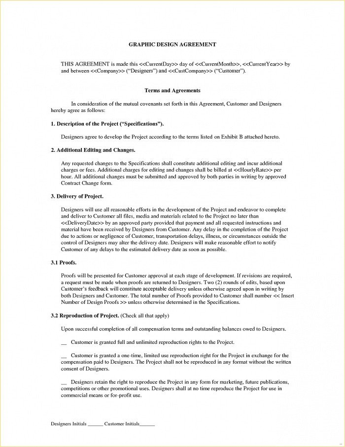 Graphic Design Contract Template 44 Great Freelance Graphic Designer Contract Agreement