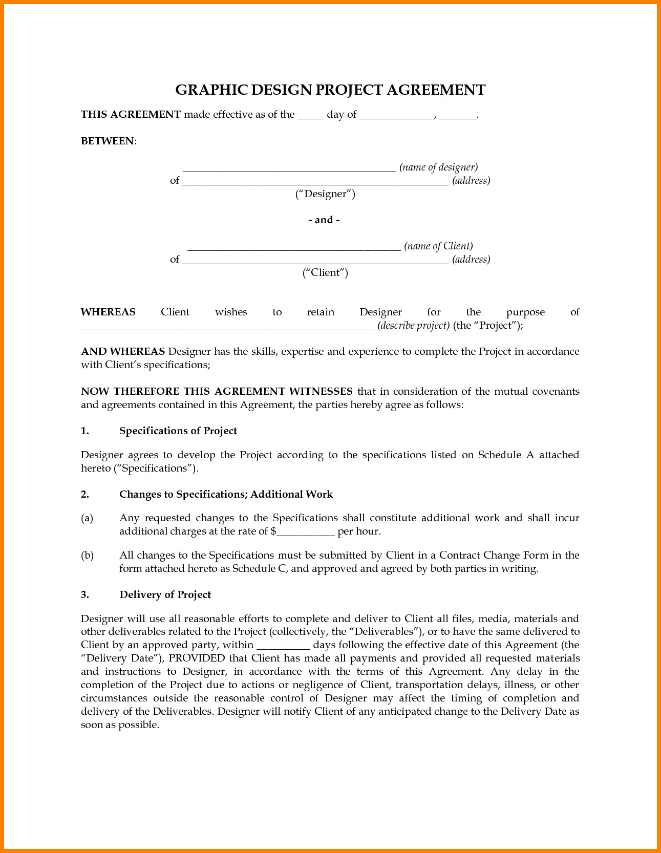 Graphic Design Contract Template 7 Graphic Design Contract