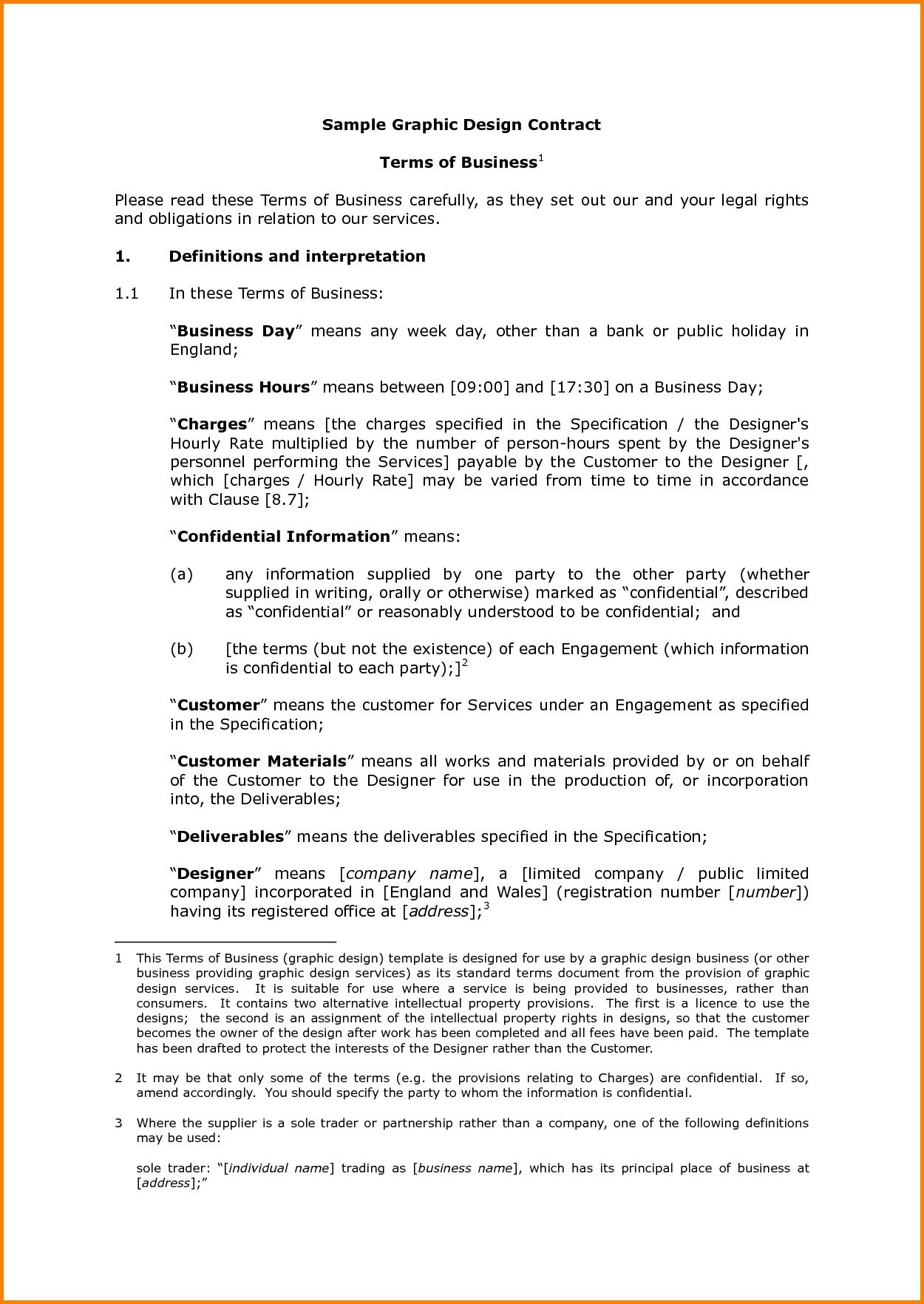 Graphic Design Contract Template Contract Template for Graphic Design Services