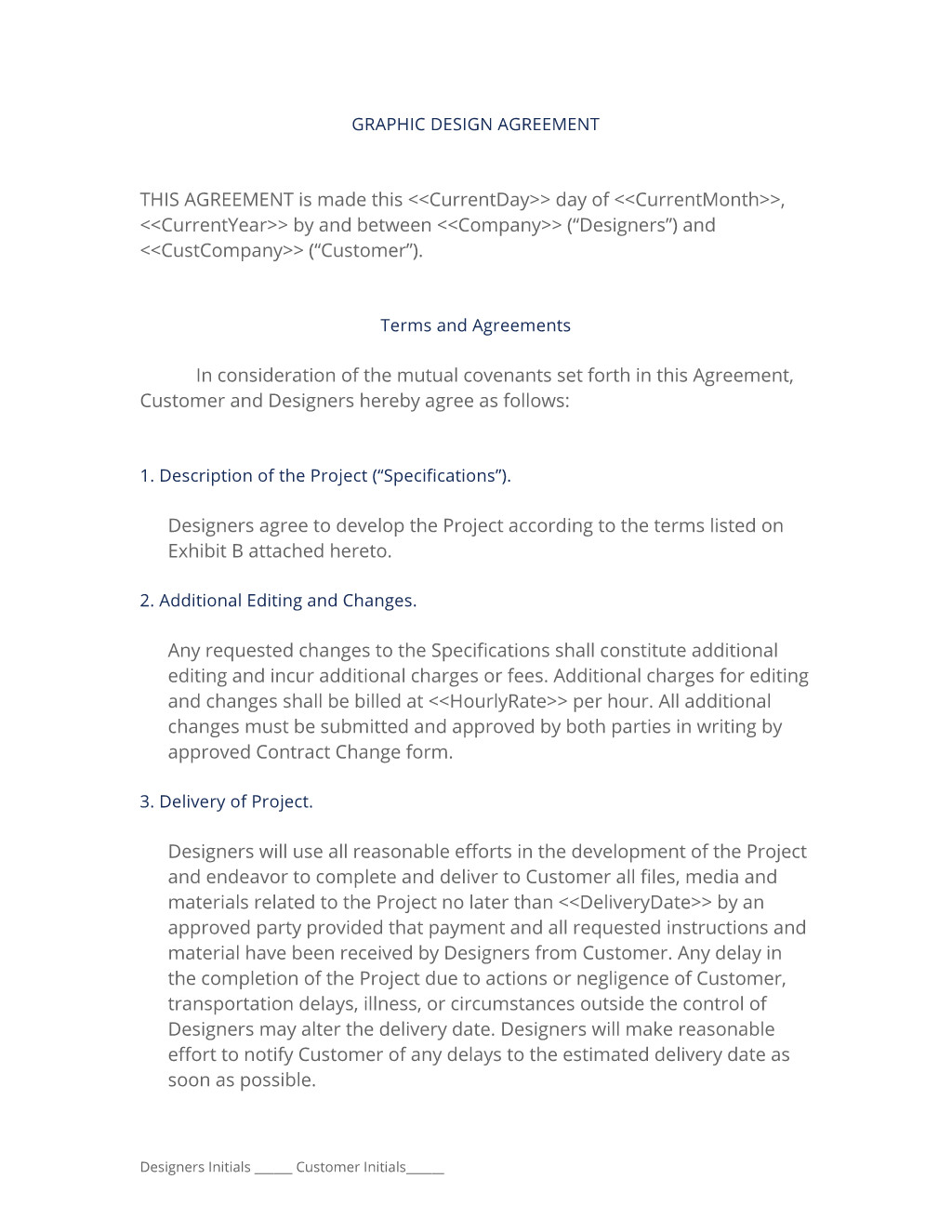 Graphic Design Contract Template Graphic Design Contract 3 Easy Steps