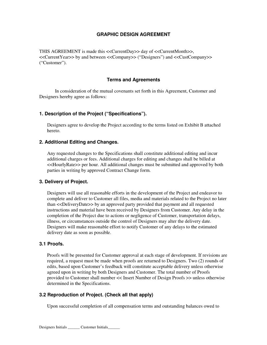 Graphic Design Contract Template Graphic Design Contract Agreement