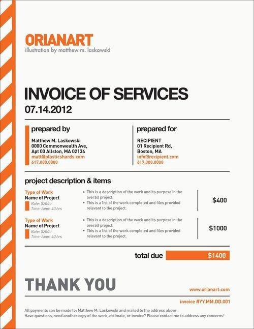 Graphic Design Estimate Template 10 Creative Invoice Template Designs Design