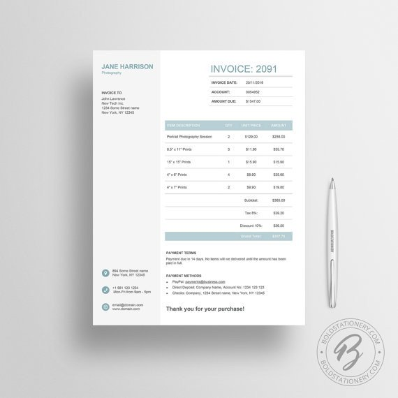 Graphic Design Estimate Template Invoice Template for Word Profit Panda