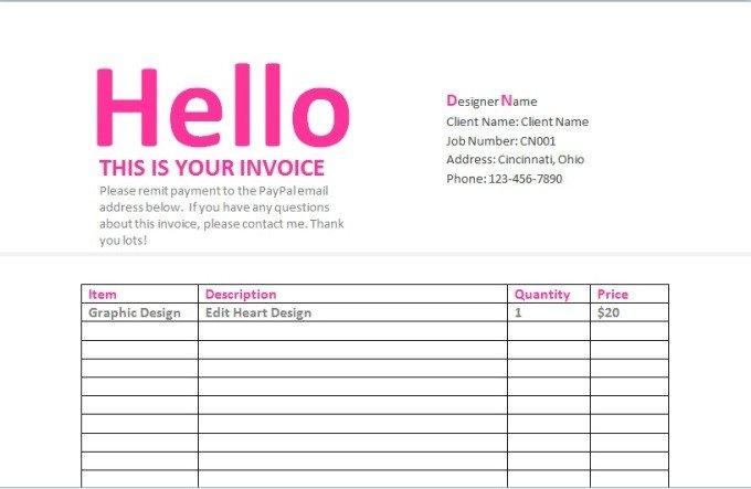 Graphic Design Estimate Template Send You A Graphic Design Contract Invoice Estima