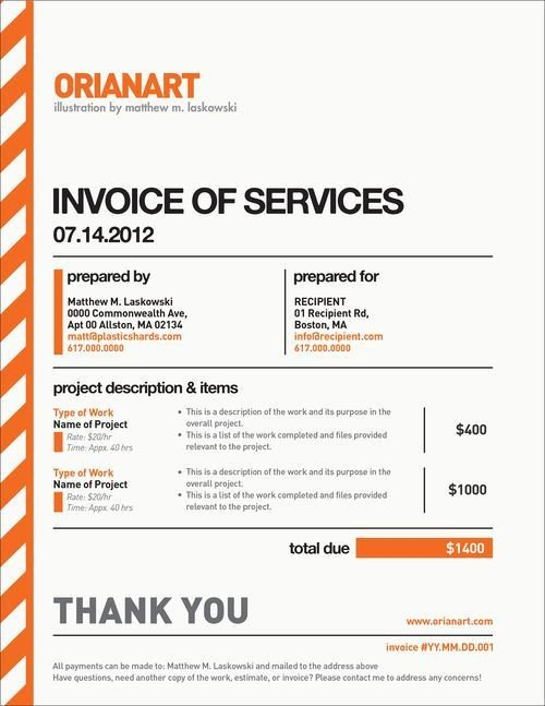 Graphic Design Invoice Template 10 Creative Invoice Template Designs Design