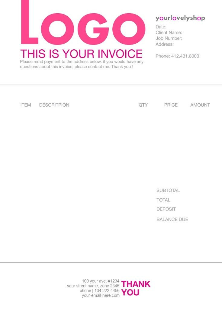 Graphic Design Invoice Template 1000 Images About Invoice Design On Pinterest