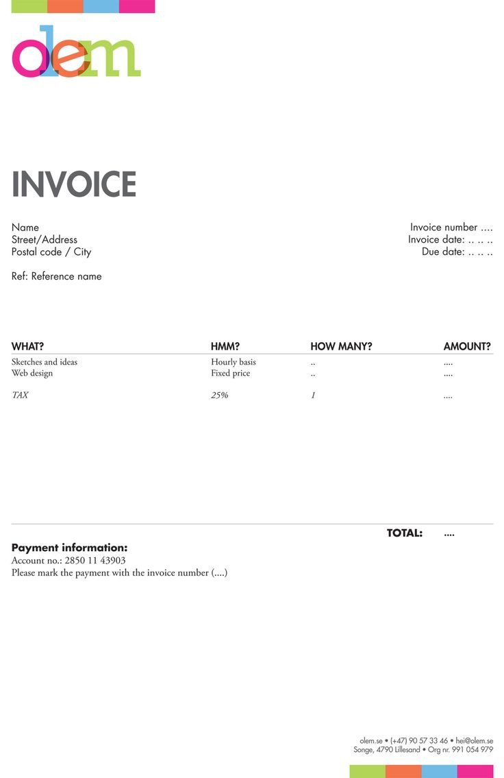 Graphic Design Invoice Template 20 Best Invoices Inspiration Images On Pinterest