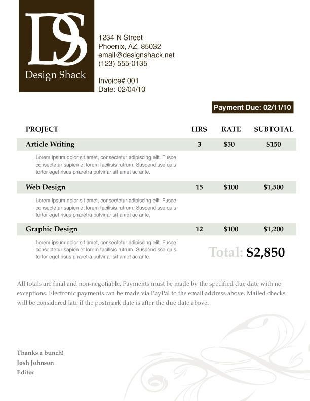 Graphic Design Invoice Template 29 Best Images About Graphic