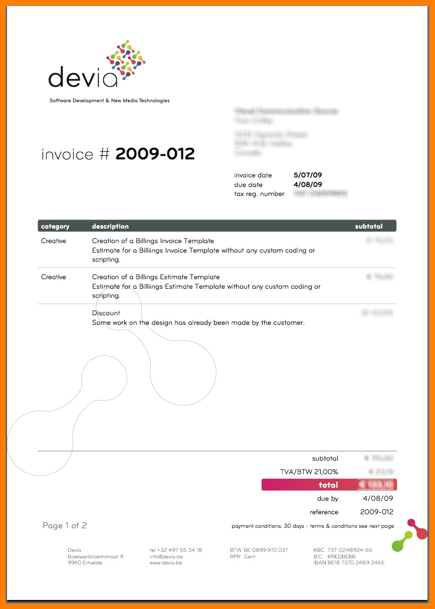Graphic Design Invoice Template 5 Graphic Designer Invoice Template