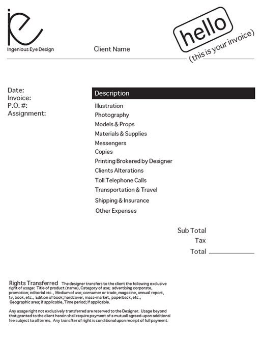 Graphic Design Invoice Template Design An Invoice that Practically Pays Itself — Sitepoint