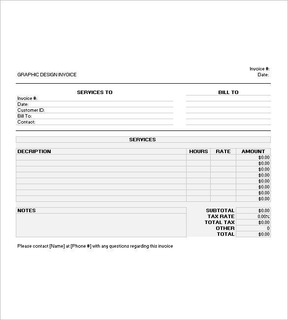 Graphic Design Invoice Template Graphic Design Invoice Template 14 Free Word Excel