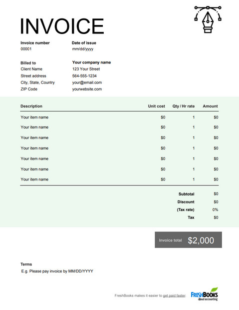 Graphic Design Invoice Template Graphic Design Invoice Template Free Download