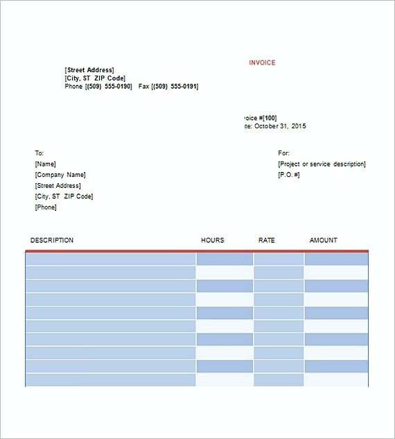 Graphic Design Invoice Template Graphic Design Invoice Template