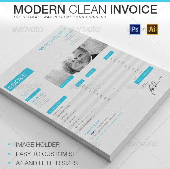 Graphic Design Invoice Template Indesign 20 Creative Invoice & Proposal Template Designs – Bashooka