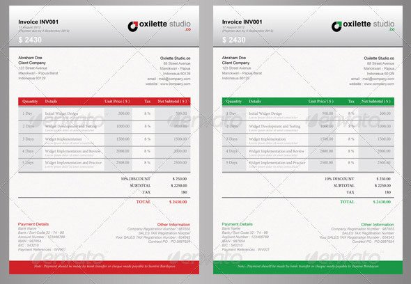 Graphic Design Invoice Template Indesign 21 Useful Invoice Indesign Templates – Design Freebies